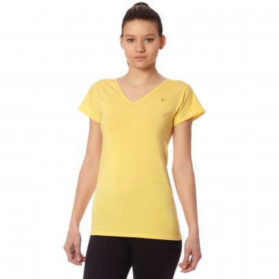 Remera Regular Micro Van V Amarillo