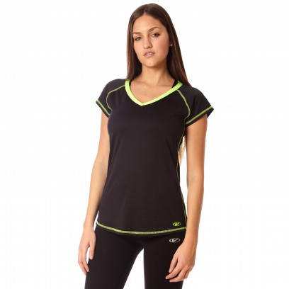 Remera regular bio Negro con lima