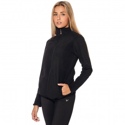 CAMPERA MICRO POLAR Negro lisa