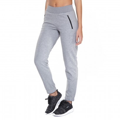 PANTALON INTERTRAMA C/PUÑO Gris melange