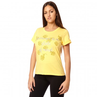 Remera Regular Summer Amarillo