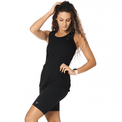 Musculosa regular Basic Negro