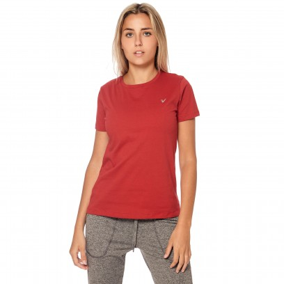 Remera regular mangas cortas rojo