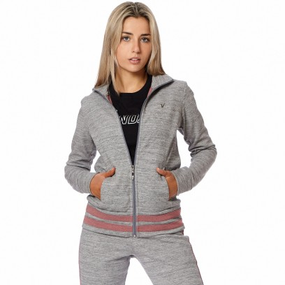Campera Urbano Intertrama Gris Melange