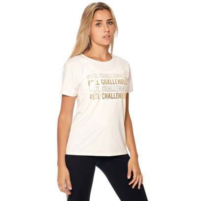 "Remera Estampada ""Feel Challenged"" Blanco"