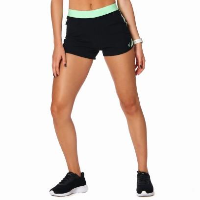 Short running combinado Negro con lima