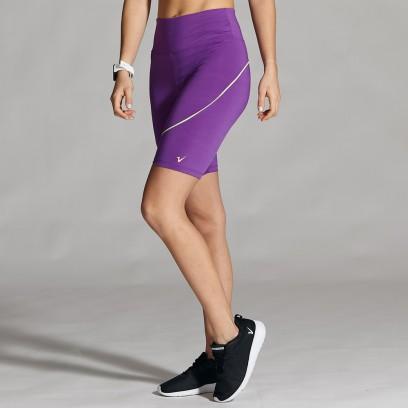 Ciclista violeta combinado con medio vivo lima