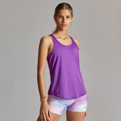 Musculosa deportiva de secado rápido Violeta