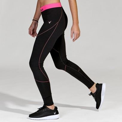 Calza training con cintura fucsia