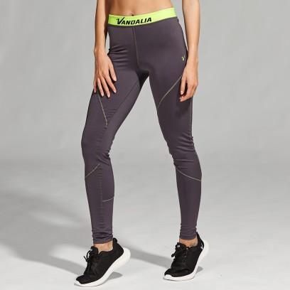 Calza training con cintura verde