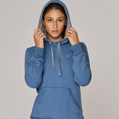 Buzo con capucha azul aero