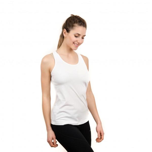 Musculosa espalda cruzada Blanco