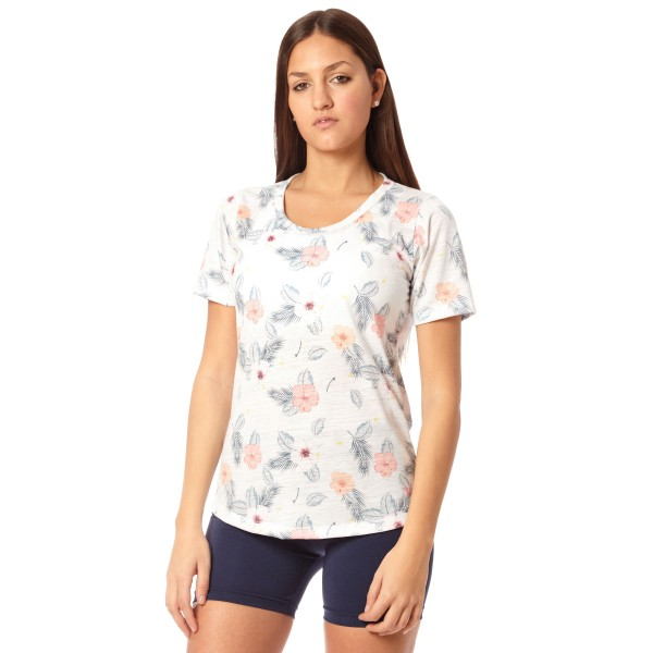 Remera Jersey Flower Blanco