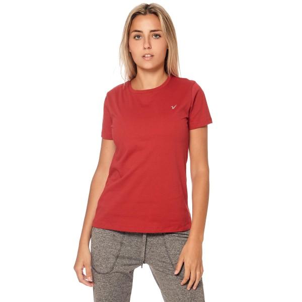 Remera regular mangas cortas rojo