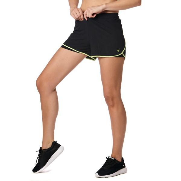 Short training con calza interna Negro