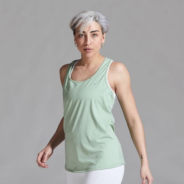 Musculosa deportiva Verde Pastel