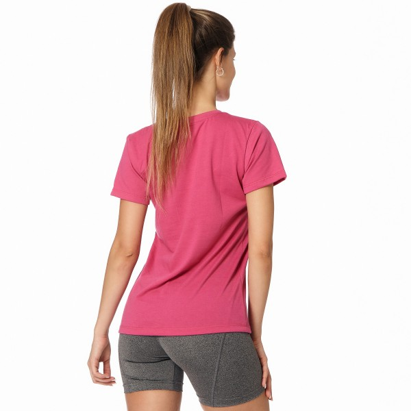 Remera regular mangas cortas fucsia