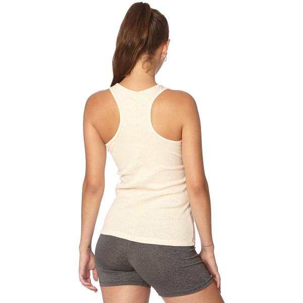 Musculosa con recorte Crudo