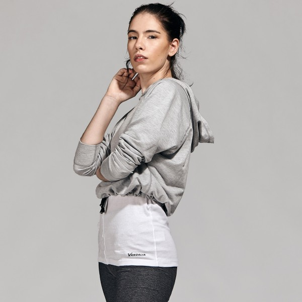 Buzo corto ajustable gris melange