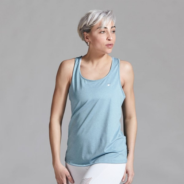 Musculosa deportiva Azul Aero