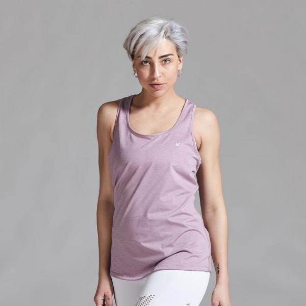 Musculosa deportiva Lila Pastel
